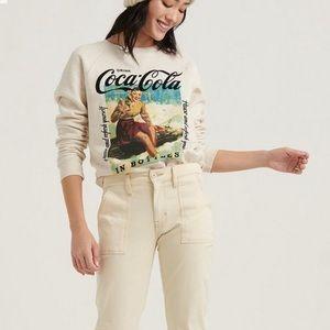 ☘️ LUCKY BRAND Coca-Cola Crew Neck Sweatshirt NWT